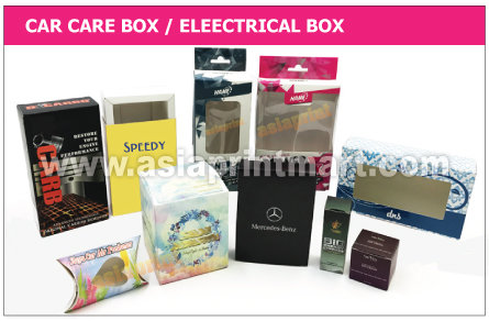 Car Care Box Printing | Print Car box | Electrical Boxes printing | Printing Box Supplier in Malaysia
